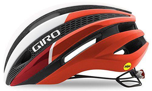Kask rowerowy Giro SYNTHE MIPS Biały czerwony, L