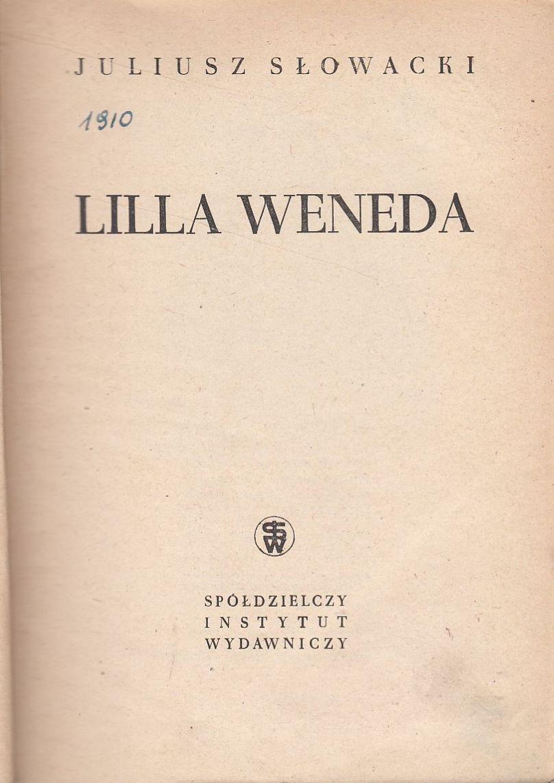 Lilla Weneda Juliusz Słowacki 1946 7284473370