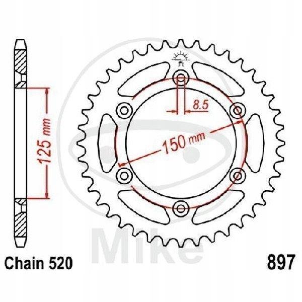 ZĘBATKA TYLNA JT 51-ZĘBÓW FX 450 2010-2011