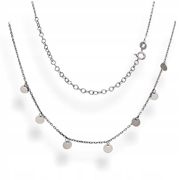 Srebrny naszyjnik - celebrytka - chocker pr. 925