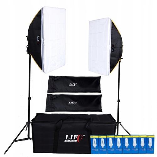 Zestaw oświetlenia ciągłego 1200W 5400K 2x SOFTBOX