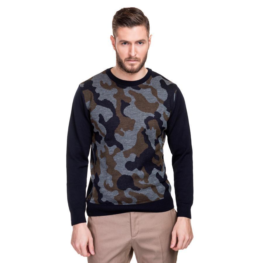 Sweter męski moro wełniany Giacomo Conti