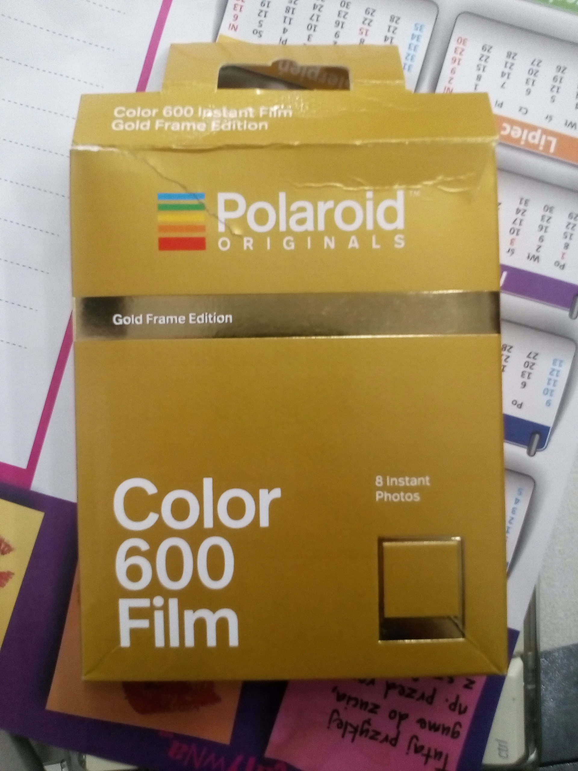 polaroid film golden frame edition złota ramka