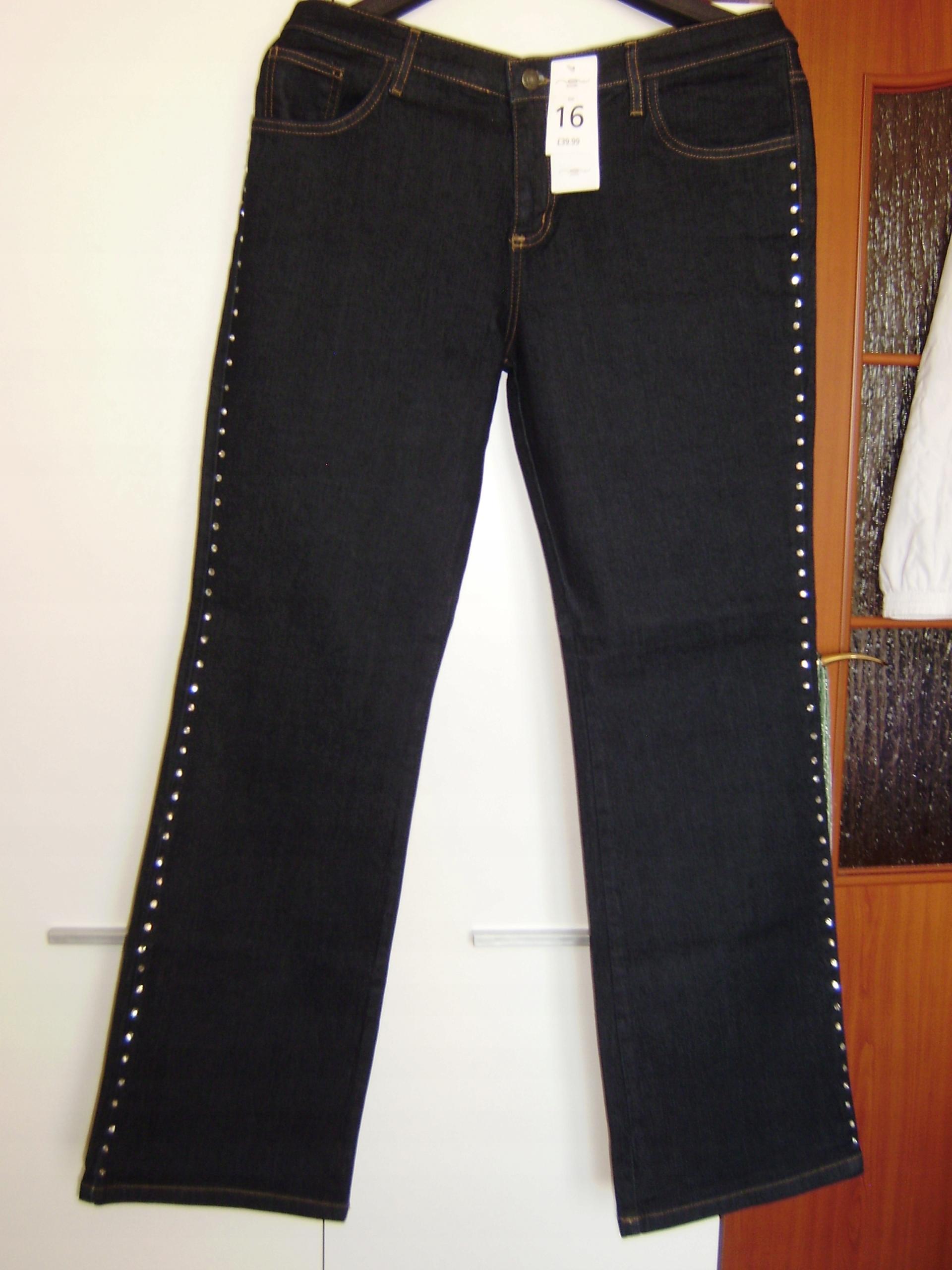 Spodnie NEW LOOK 44, granat, NOWE, bawełna