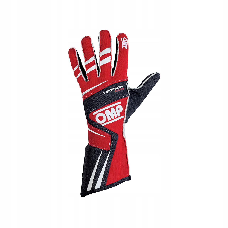 Rękawice rajdowe OMP TECNICA EVO MY18 czerwone, M