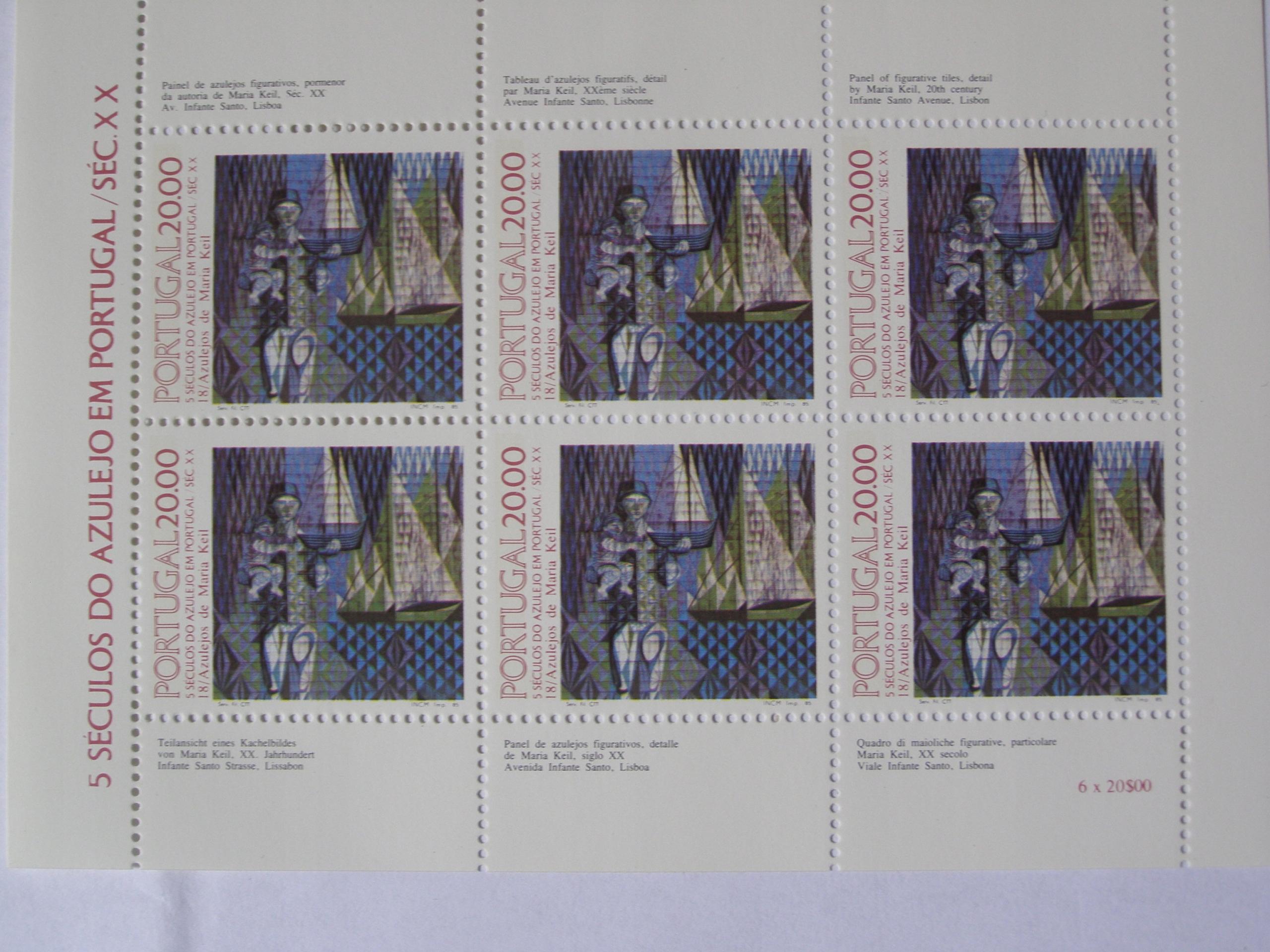 Portugalia - 500 lat Azulejos - Mi.1657 arkusik **