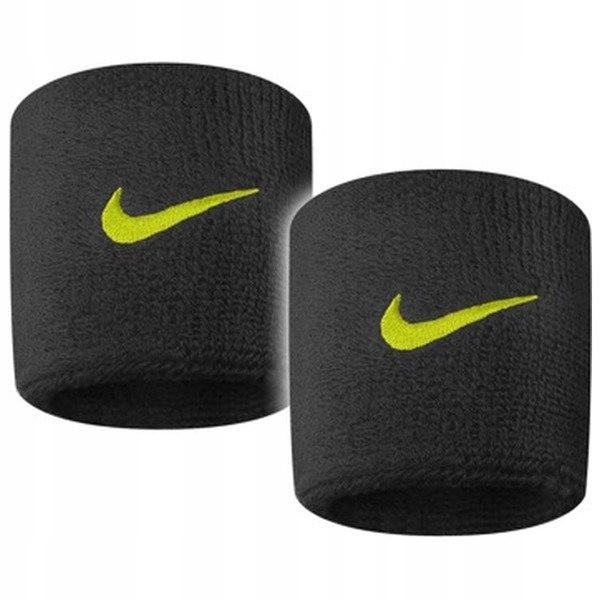 Nike OPASKA na nadgarstek frotka CZARNA - 2 sztuki