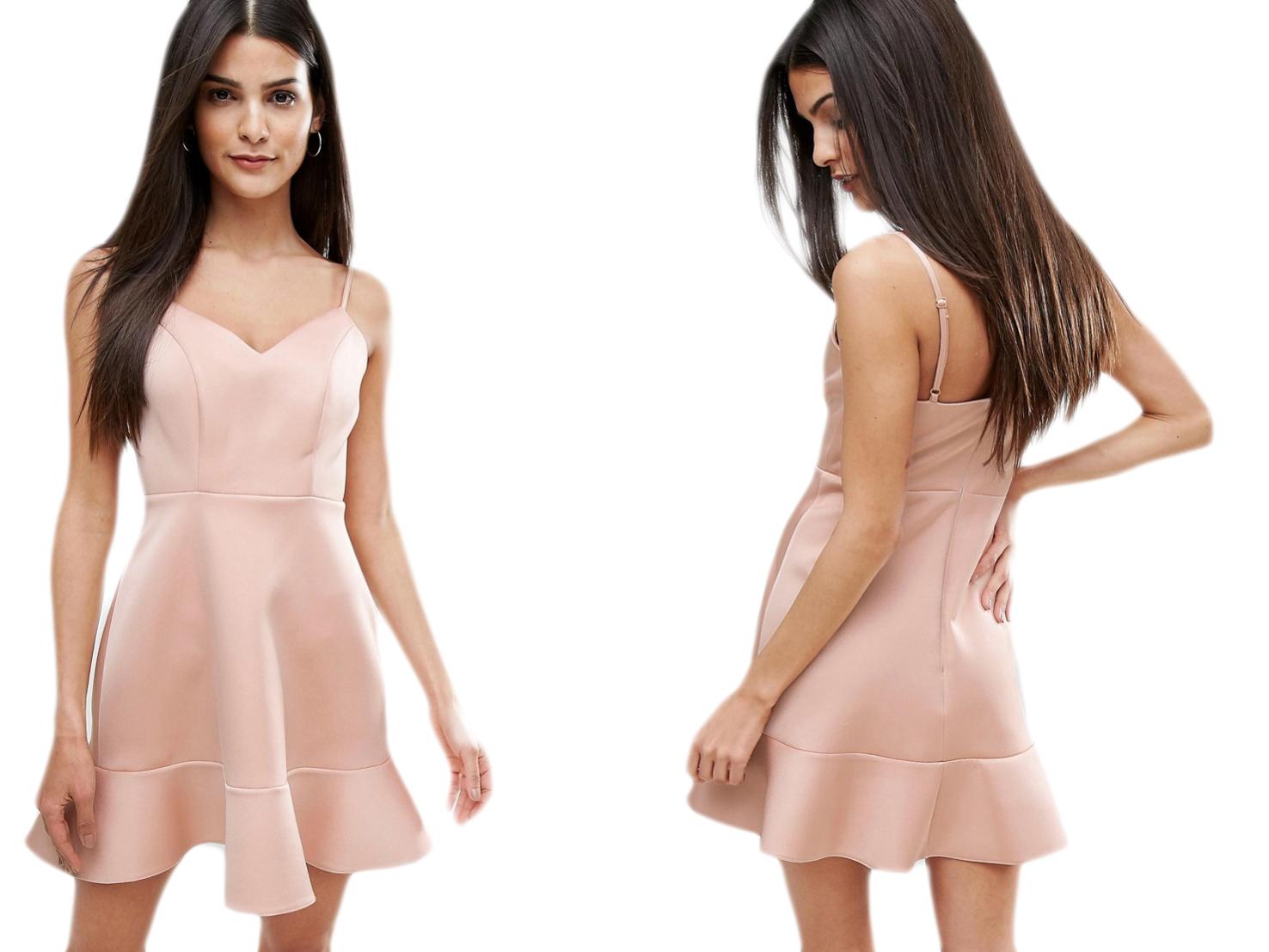 River Island Beżowa Mini Sukienka XXL/44