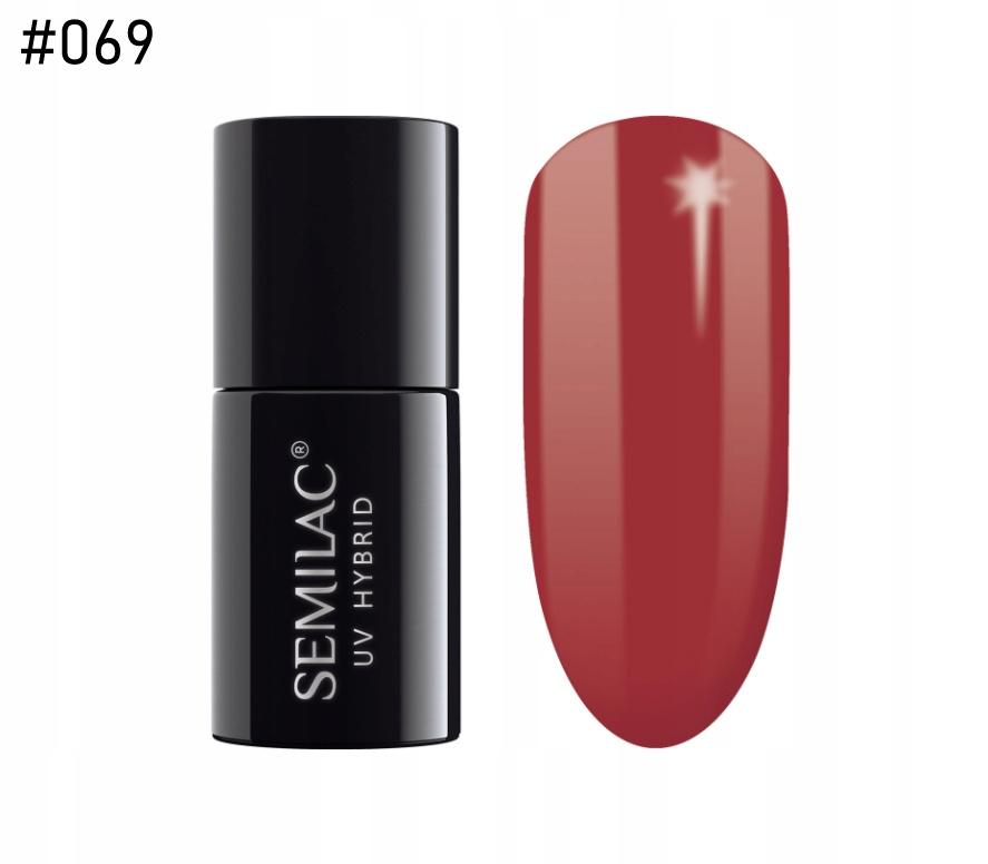SEMILAC lakier hybrydowy 069 DIRTY RED 7ml