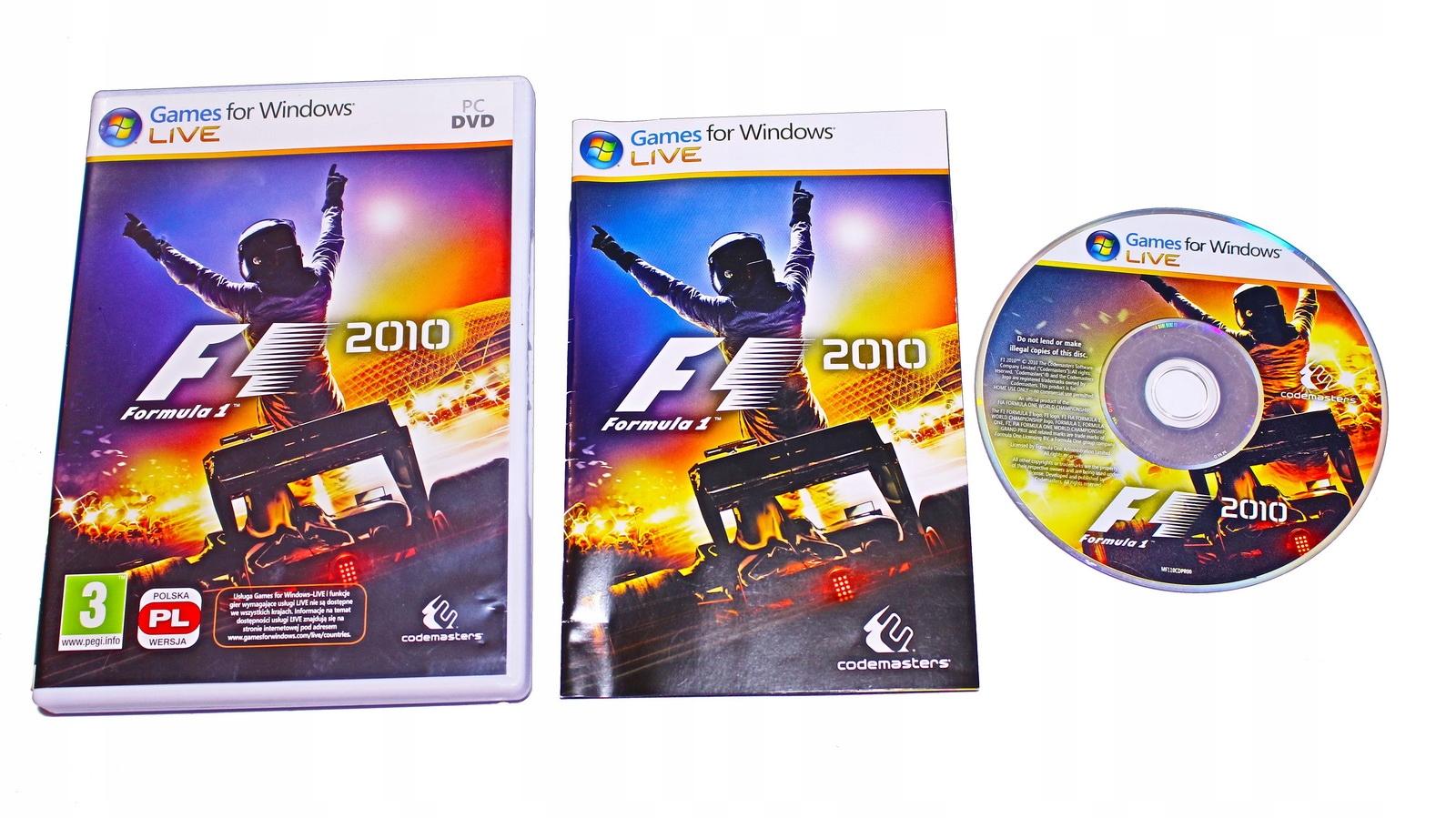 F1 2010 PREMIEROWE BOX PL PC