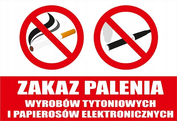 TABLICZKA - PCV 3mm - ZAKAZ PALENIA - 20 x 30cm