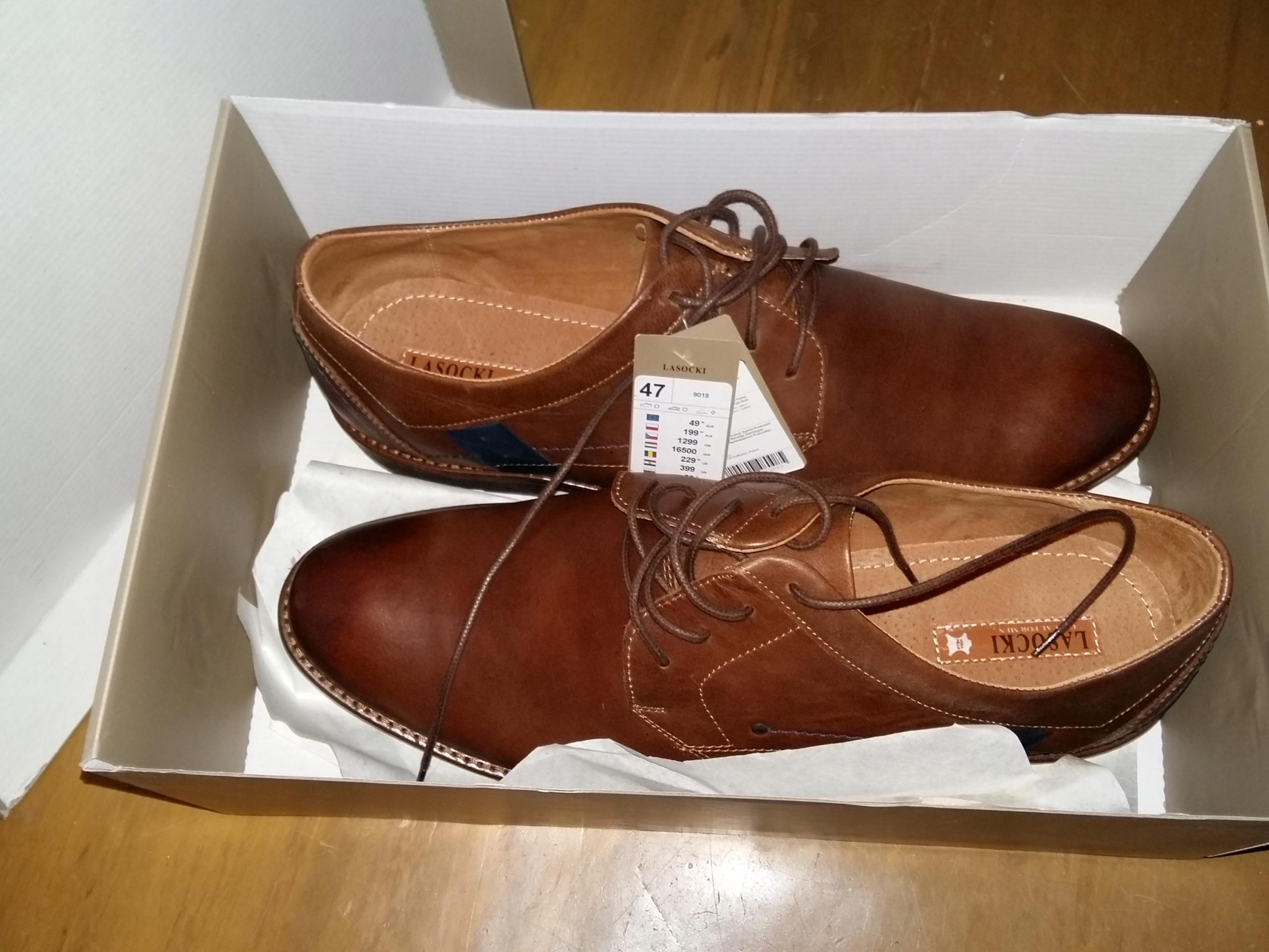 47 LASOCKI CCC buty męskie nowe