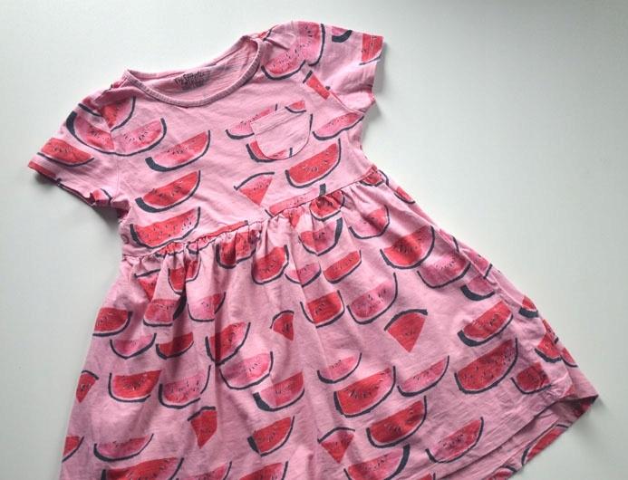 Sukienka bawełniana arbuzy 116 cm 6 lat