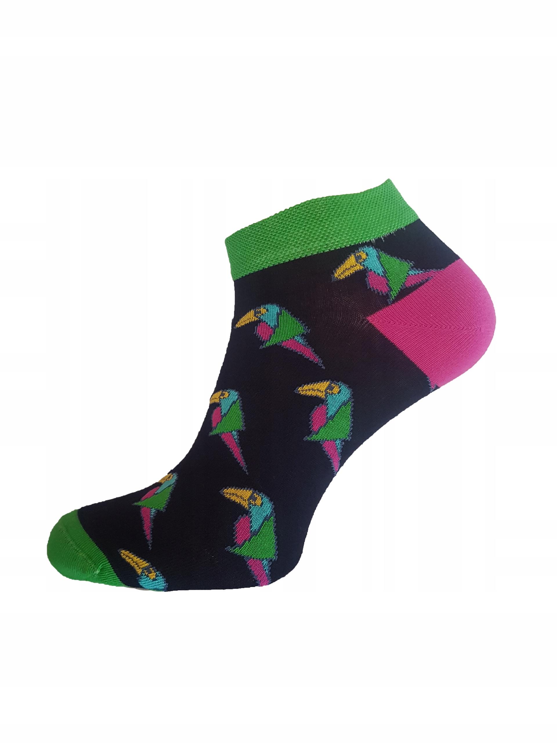Modne Kolorowe Stopki Papugi Roz: 42-44
