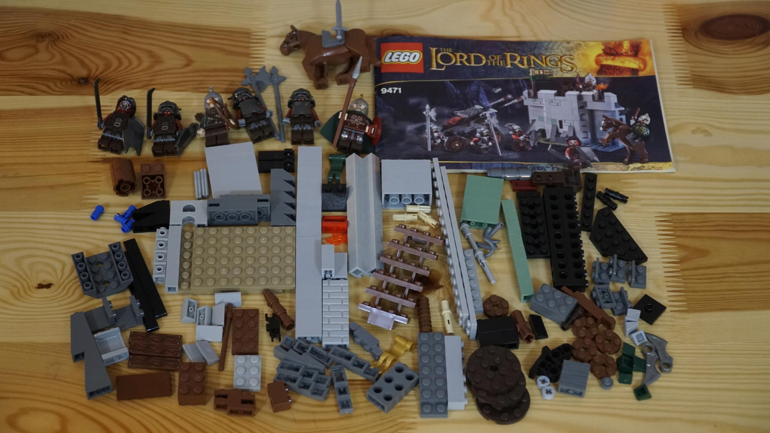 Lego Władca Pierścieni 9471 100 Komplet Ideał Uru 7802104395