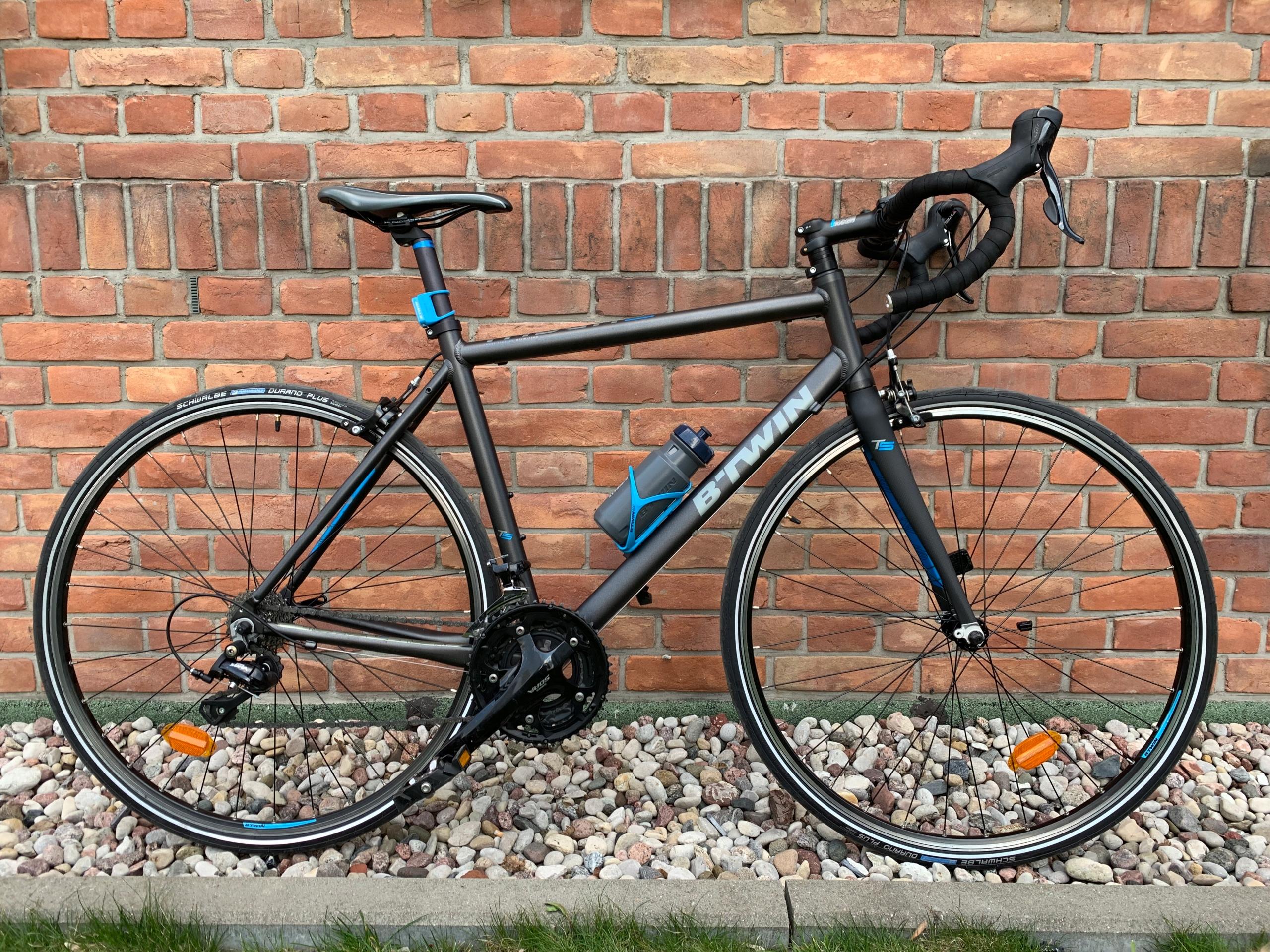 Rower szosowy BTWIN Triban 5 widelec karbon - 7966724415