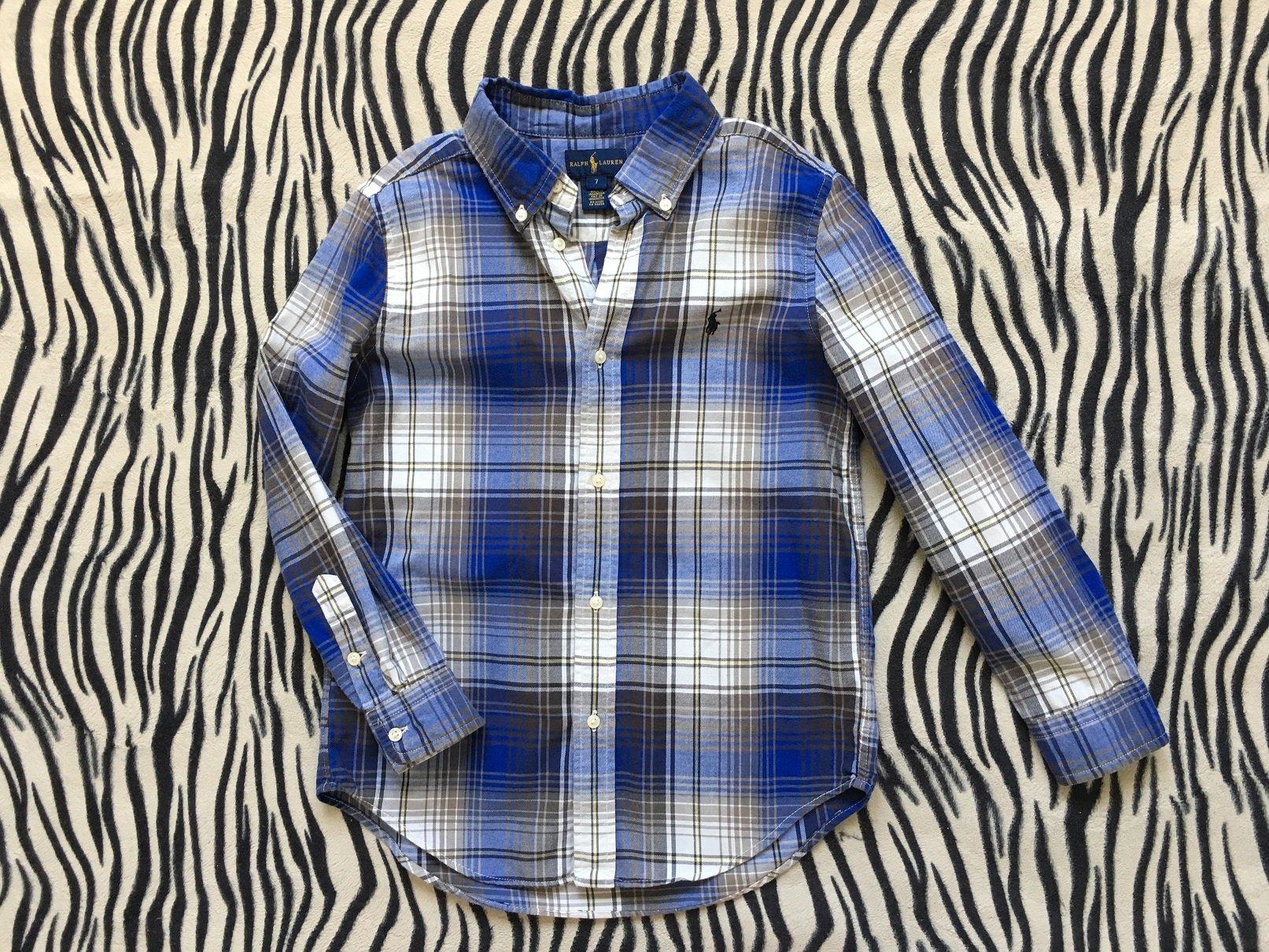 4806bf380 Ralph Lauren koszula w kratke dla synka size 7y - 7284223236 ...