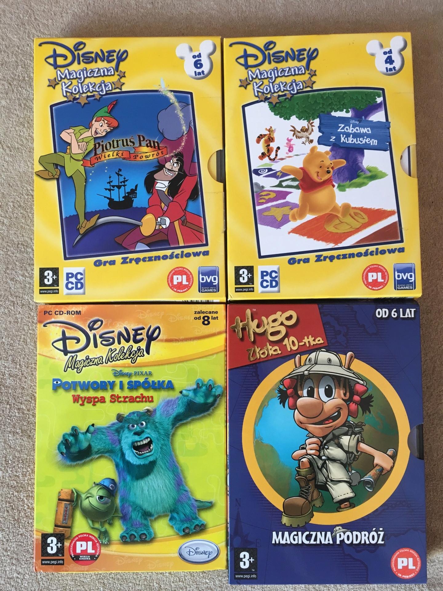 Nowość Disney Magiczna Kolekcja gier PC dla dzieci + HUGO - 7634250144 WA17