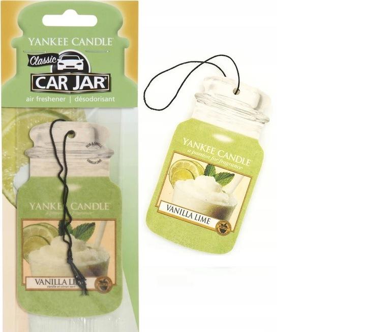 Yankee Candle Car Jar Zapach do Auta VANILLA LIME