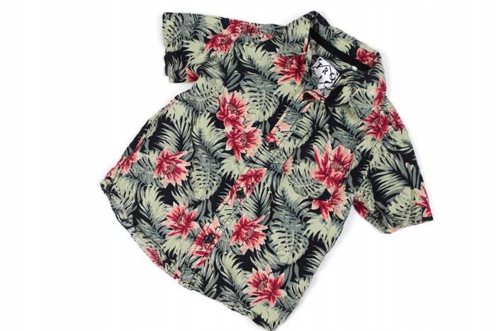 33983*TU koszula HAWAJSKIE kwiaty CHŁOPIEC r.98 cm