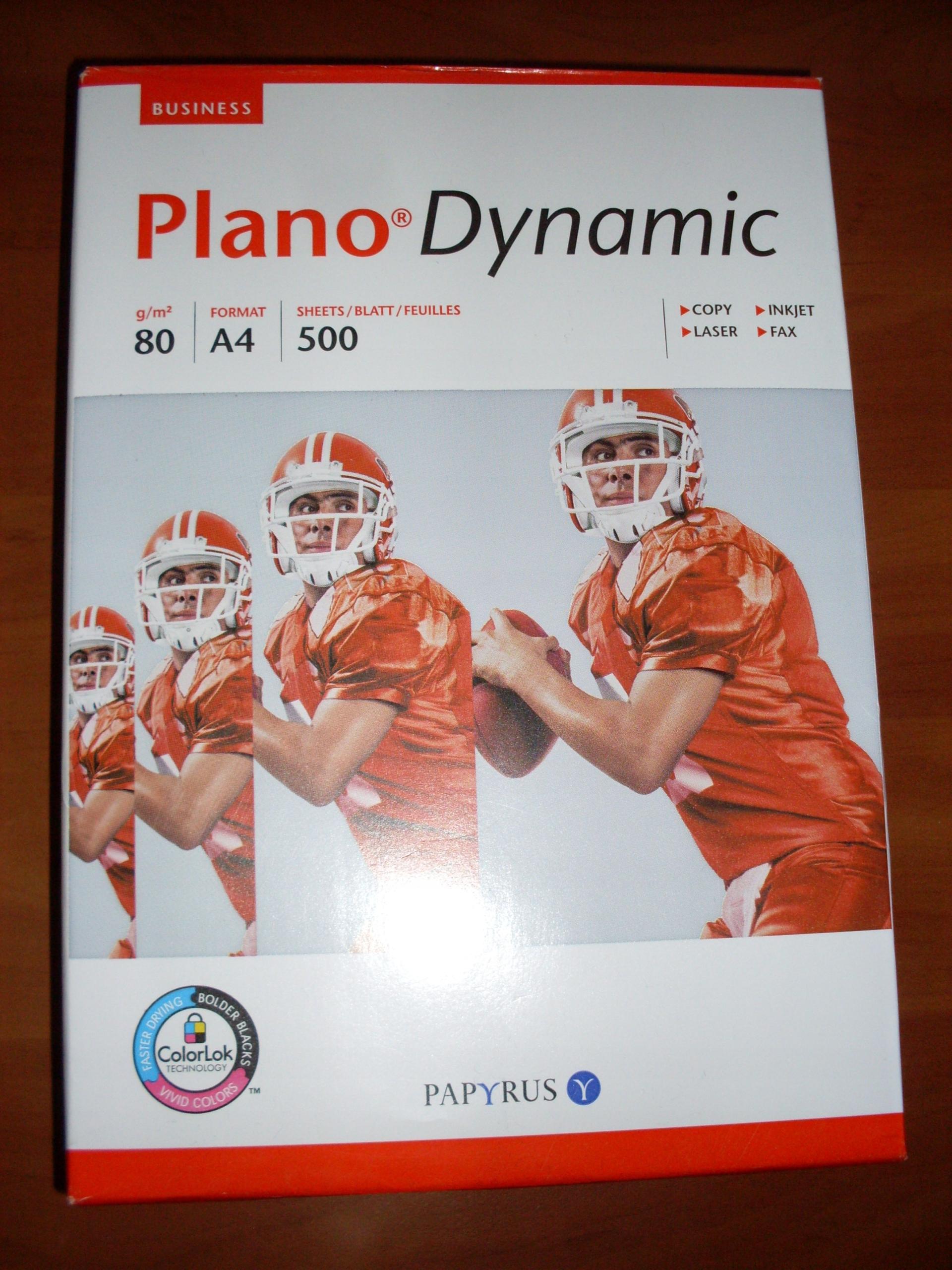 PAPIER A4 - RYZA 500 SZT. - PLANO DYNAMIC - 80 G