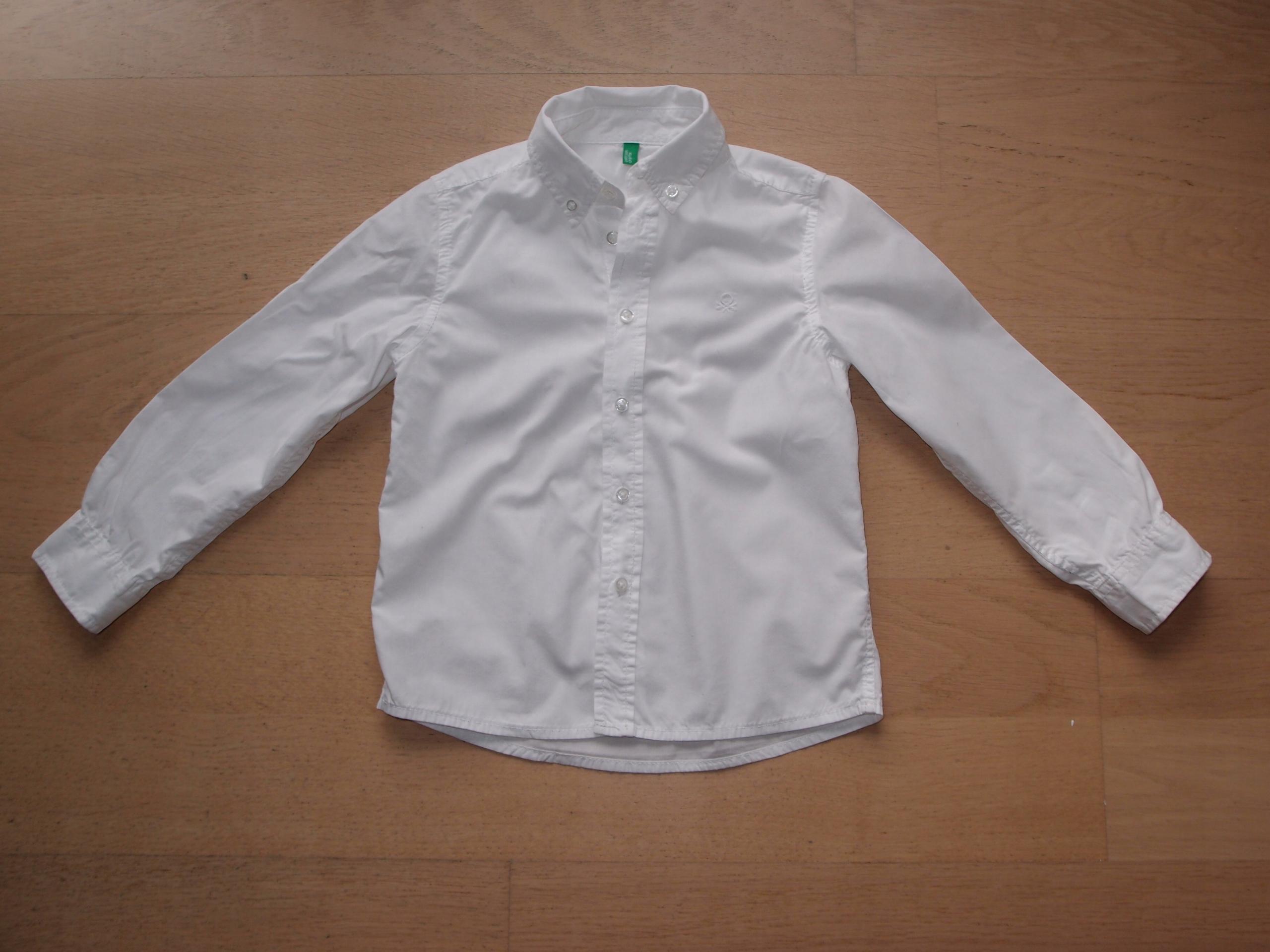 Biała koszula BENETTON rozm.116
