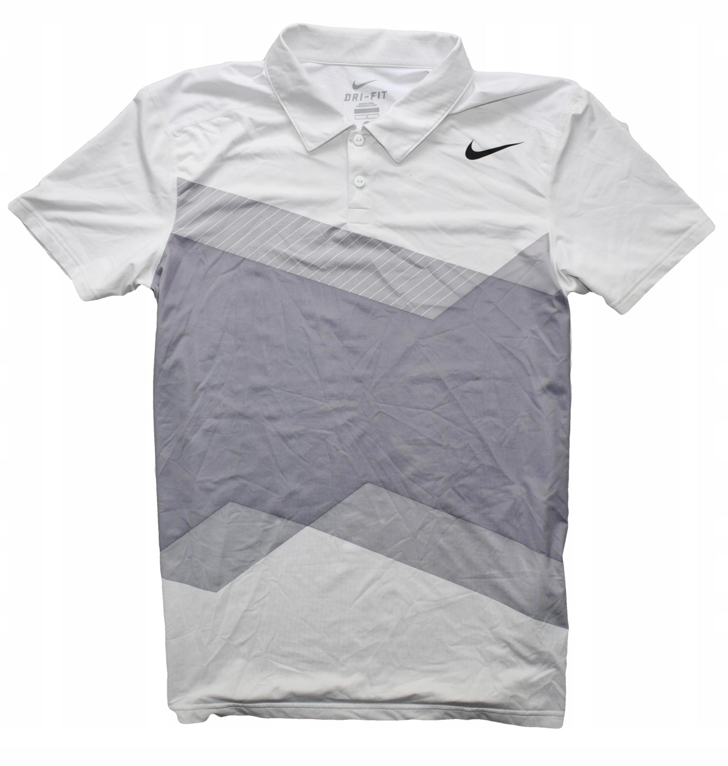 Nike TENIS L koszulka do gry w tenisa ODDYCHAJĄCA