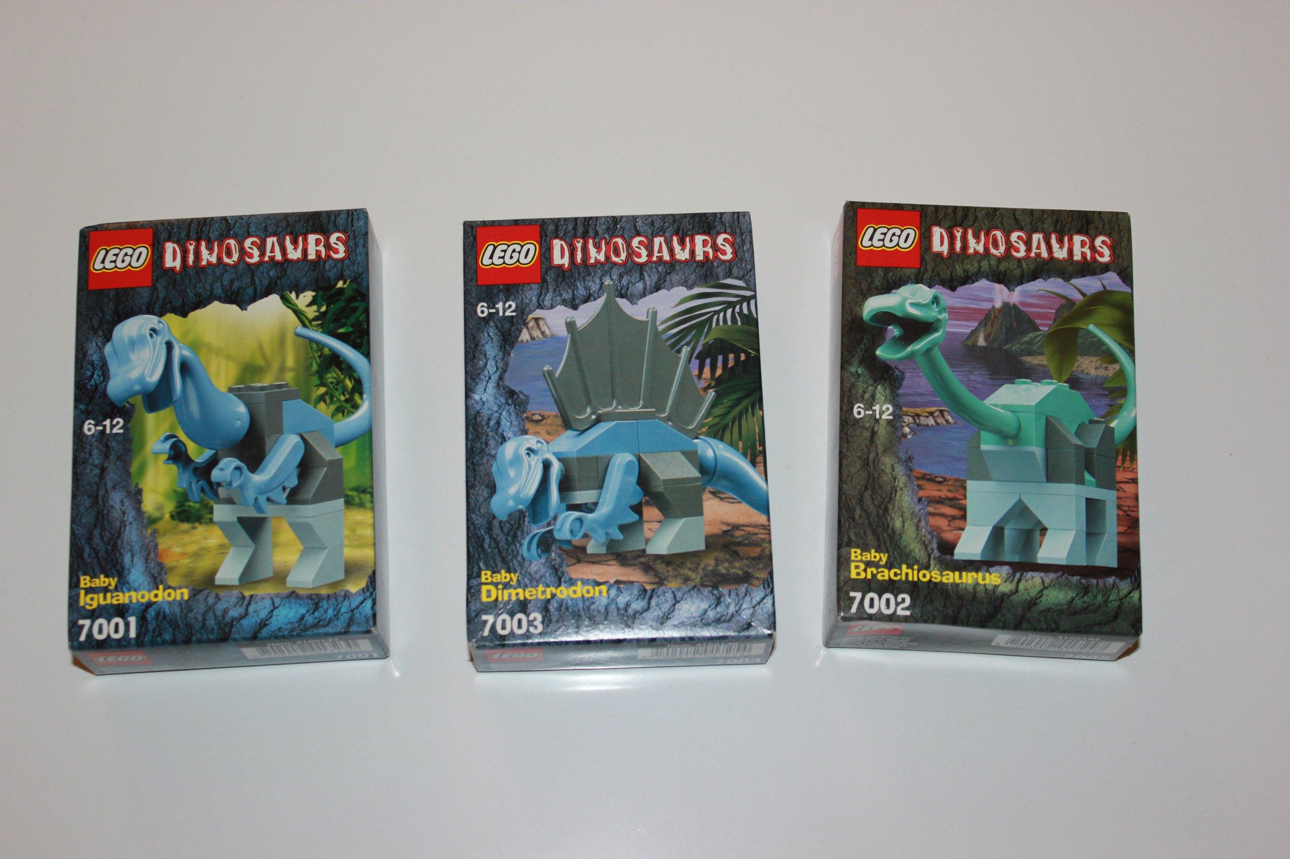 LEGO DINOSAURS 7001, 7002, 7003 NOWE