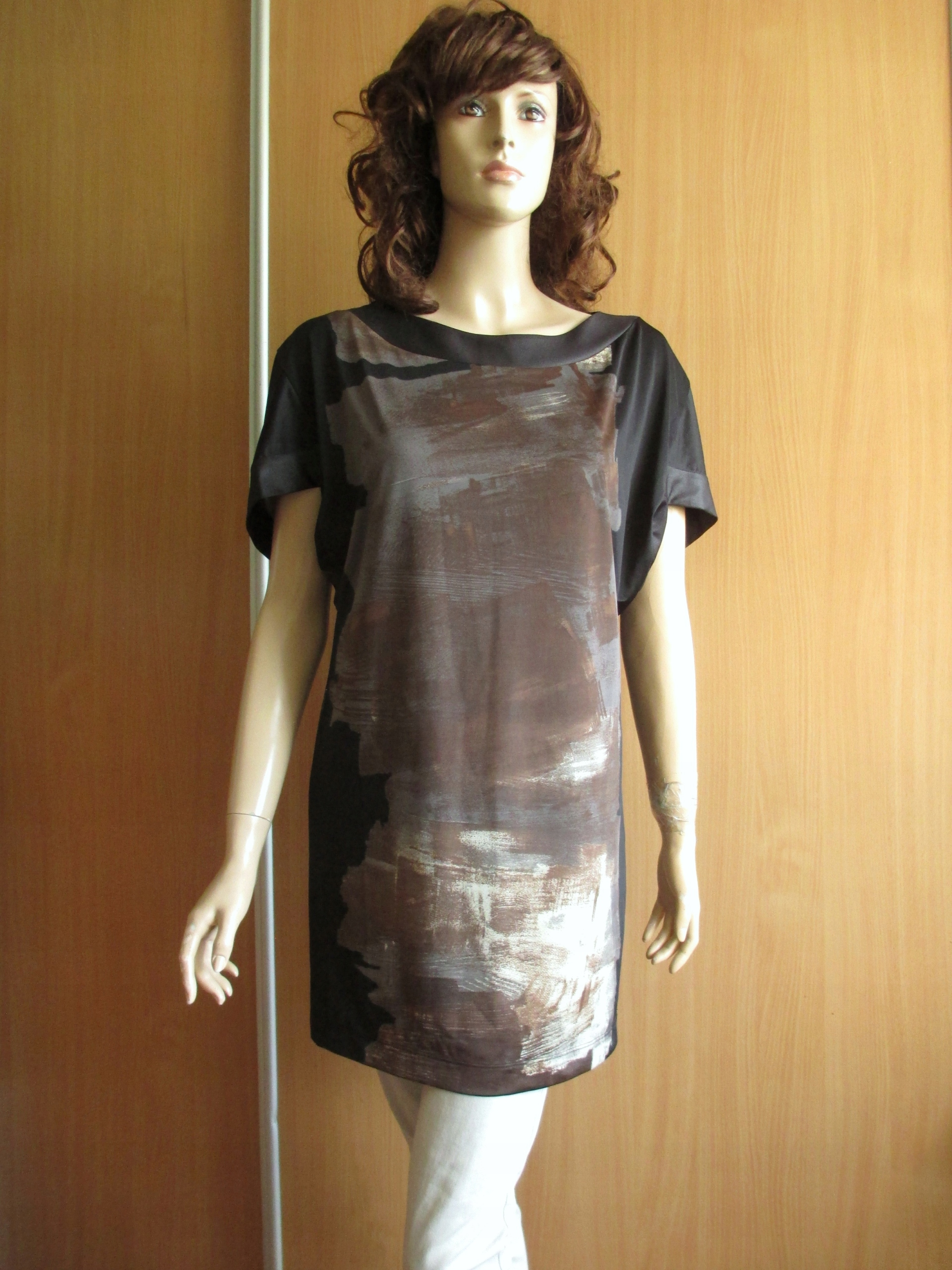 ELEGANZA DI COMO ITALY tunika sukienka we wzory 38
