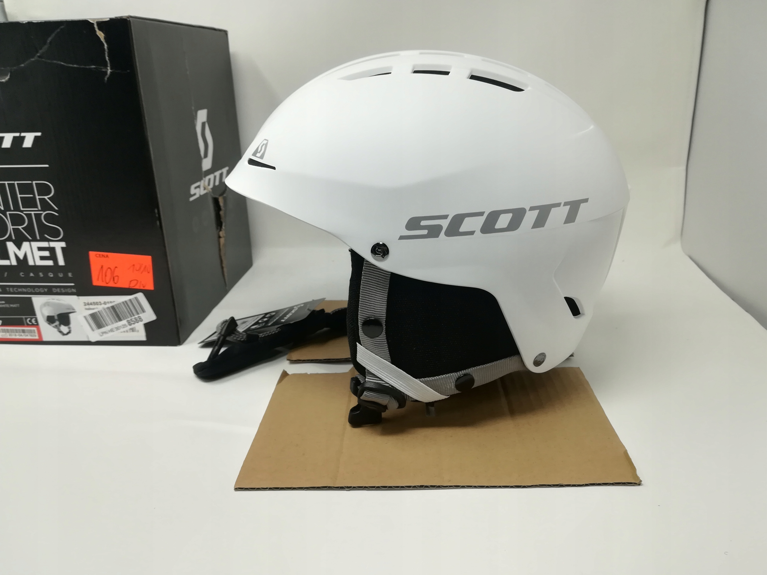 SCOTT APIC WHITE MATT S ( 51-55 cm.)KASK