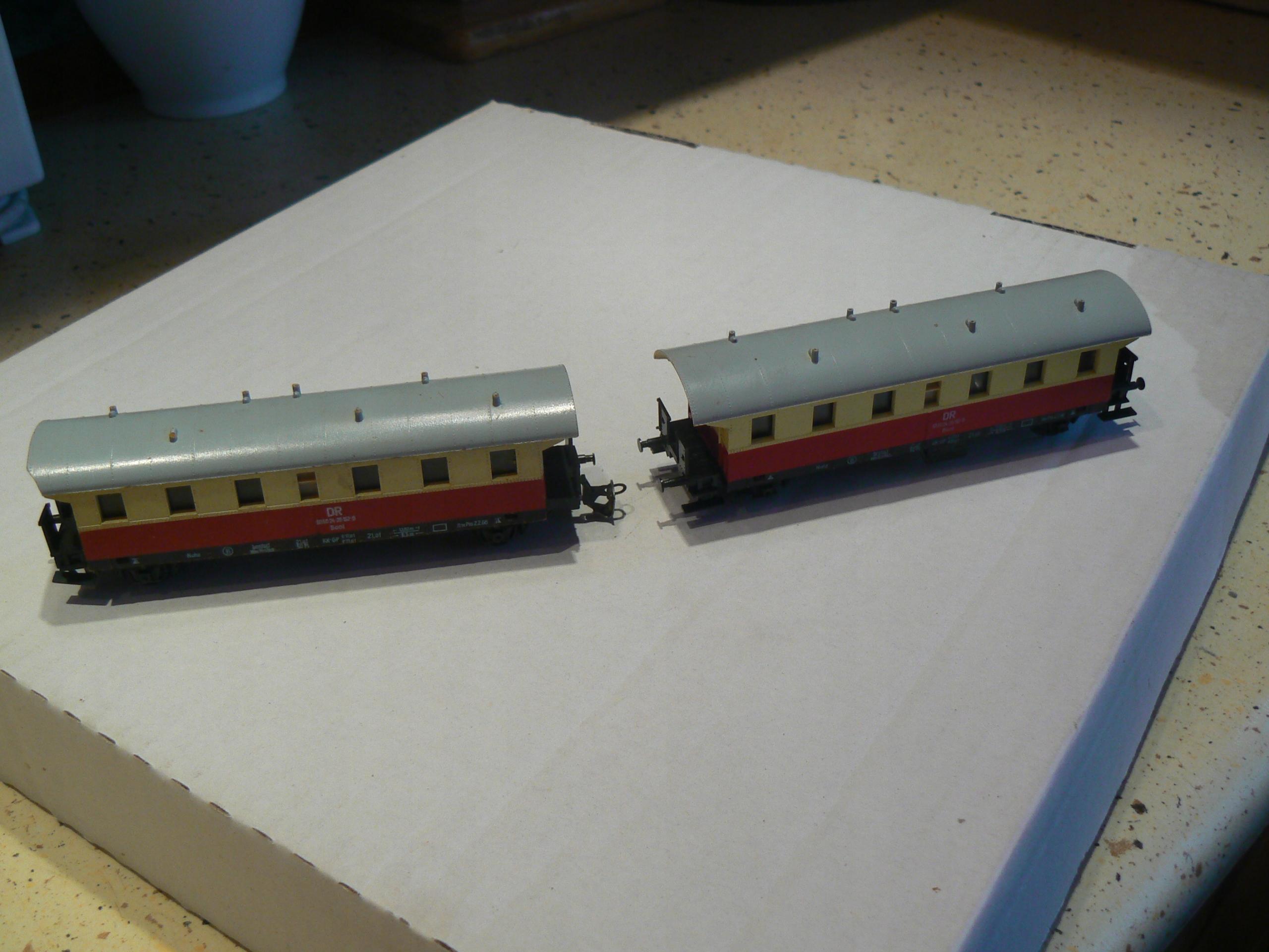 Dwa wagony TT.