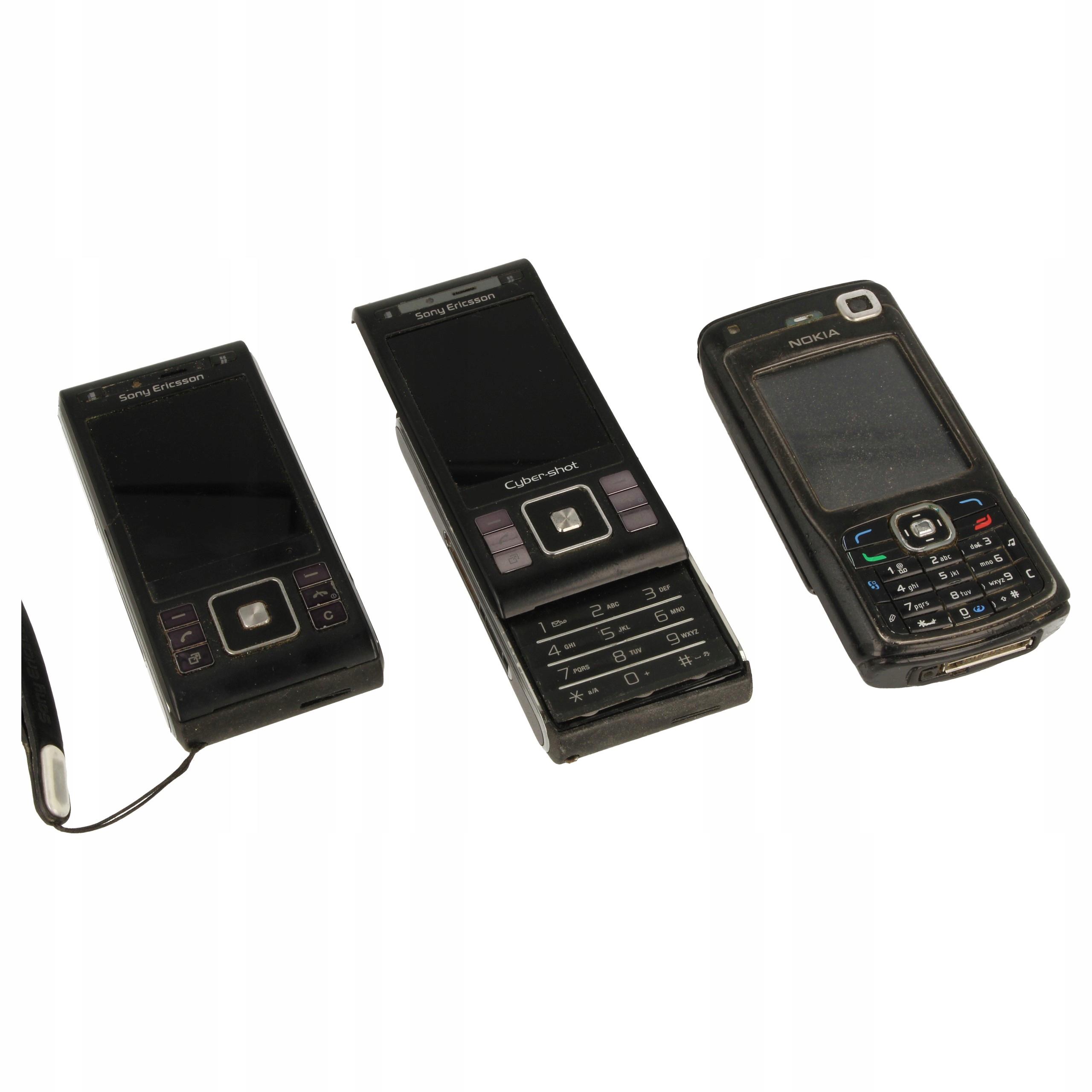 Zabytkowe telefony Sony Ericsson C905 2szt + N70