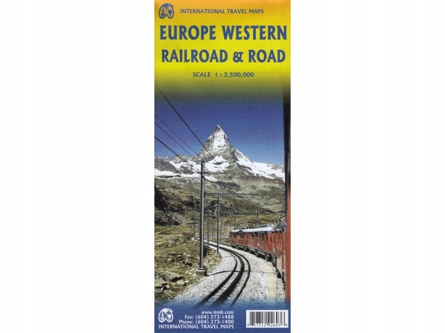 Western Europe Railroad Road mapa ITMB