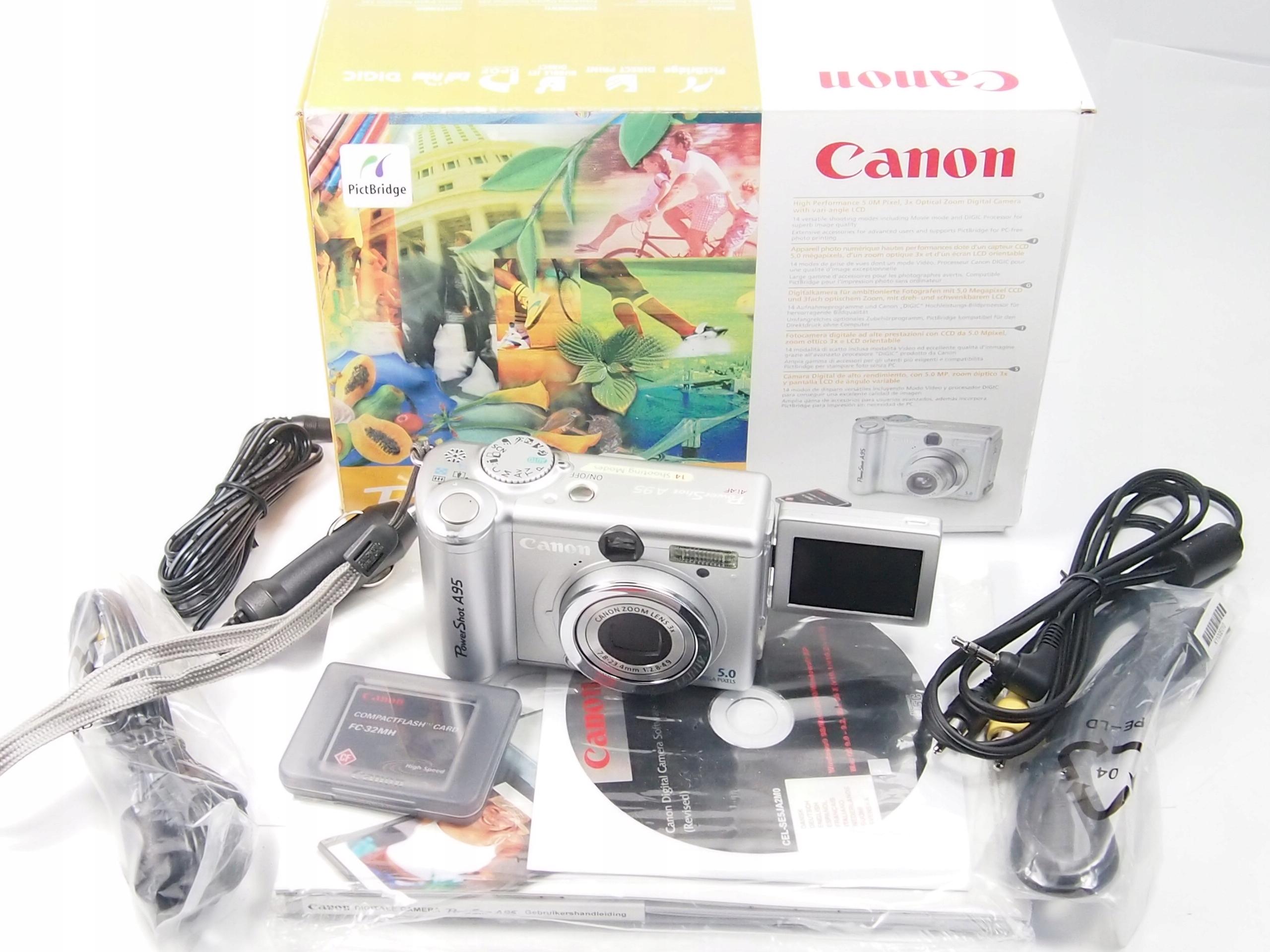 Aparat cyfrowy Canon A35 Power shot pełen komplet