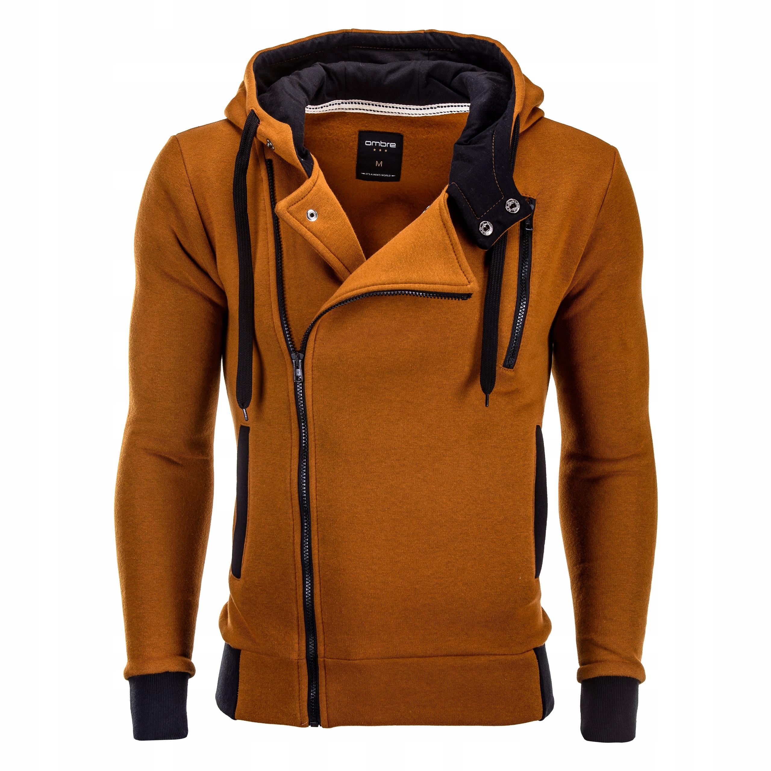 Bluza rozpinana ramoneska OMBRE B297 ruda XXL 7726162312