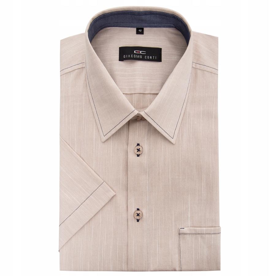 Kremowa koszula z krótkim rękawkiem Giacomo Conti