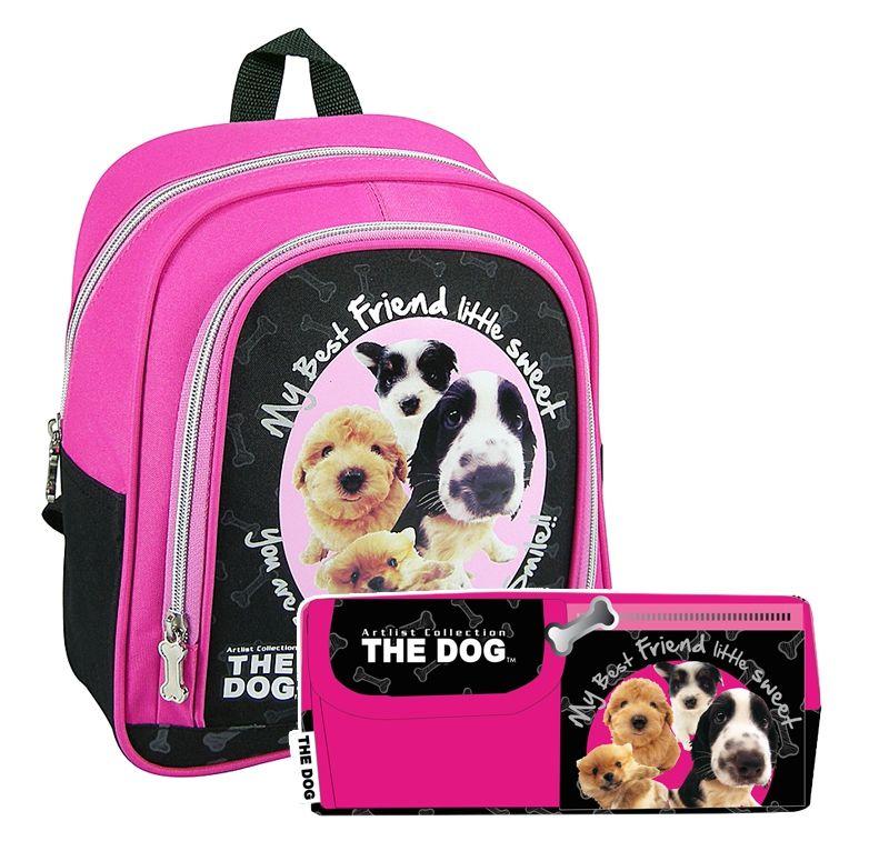 Plecaczek przedszkolny + piórnik THE DOG z psem