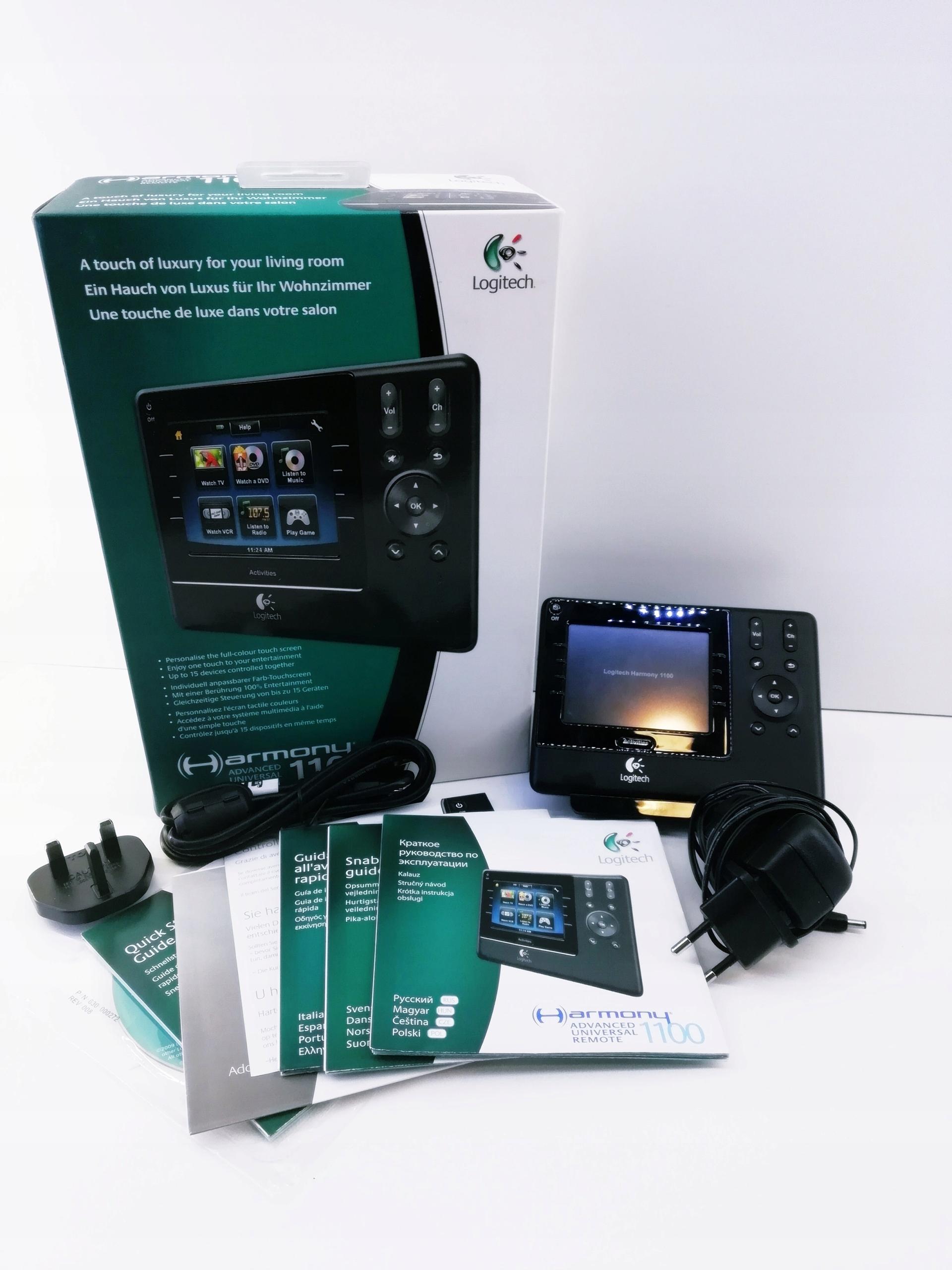 Pilot uniwersalny LOGITECH 1100 HARMONY LCD TV RTV