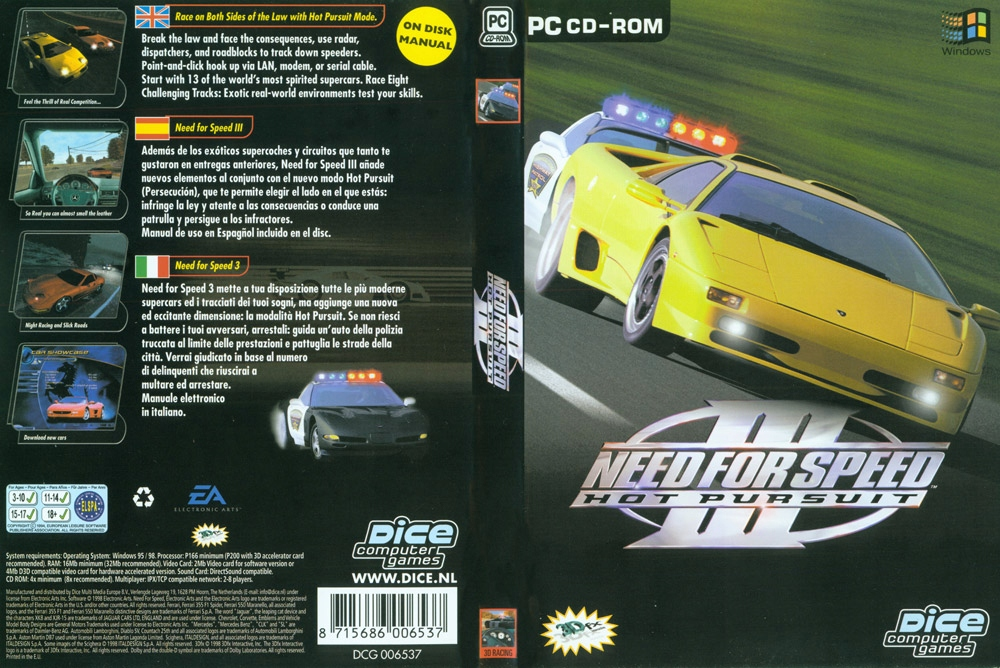 NEED FOR SPEED III: HOT PURSUIT 3 PC