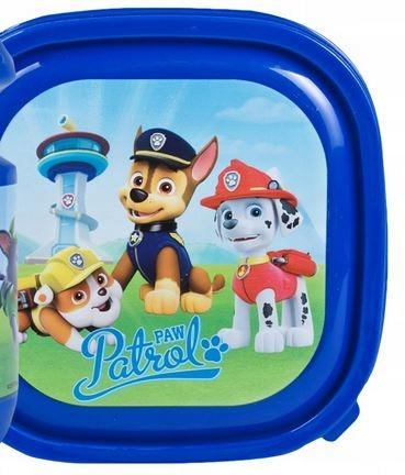 Niebieska Śniadaniówka PSI PATROL PAW pieski Chase