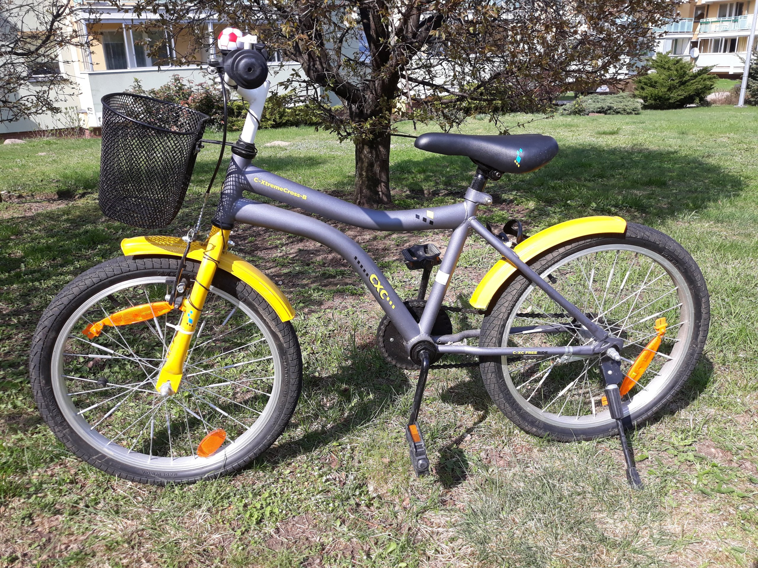 super rower dziecięcy 20 żółto-szary + kask gratis