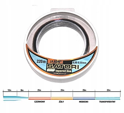 ŻYŁKA KONICZNA JAXON SATORI SURF 0,28-0,48mm/220m
