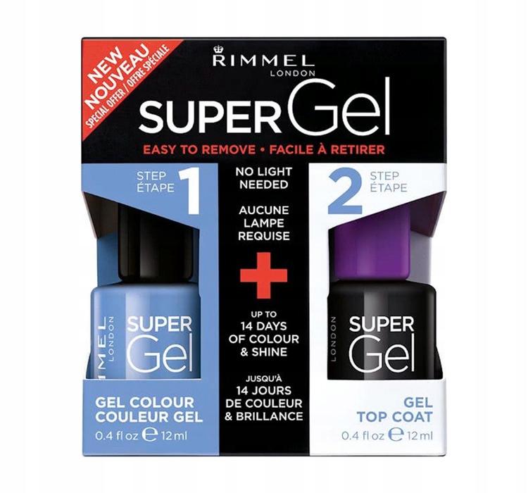 Rimmel Super Gel Colour + Top Coat lakier żelowy