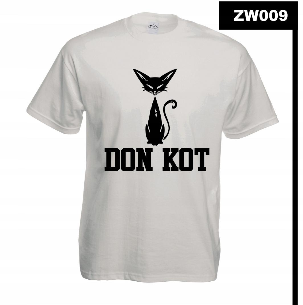 Koszulka z nadrukiem MÓJ KOT KOCIAK CAT ZW009M BS