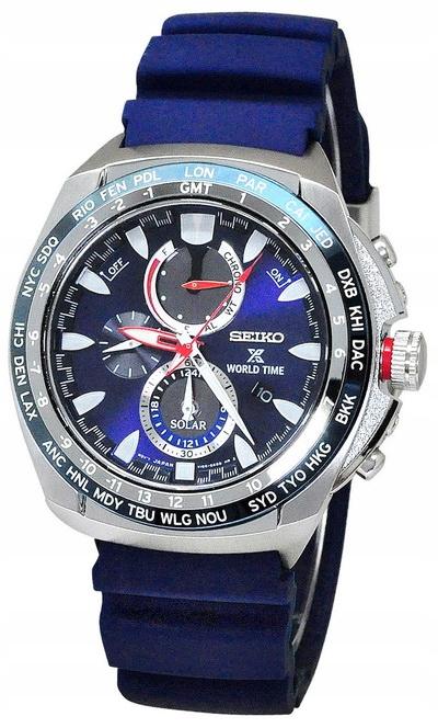 zegarek SEIKO Solar WORLD TIME SSC489P1 GWARANCJA