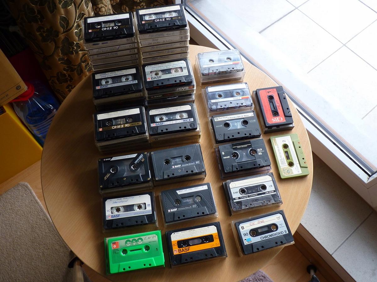 Zestaw 52 kaset, w tym 44 to Chrom z czego 41 BASF