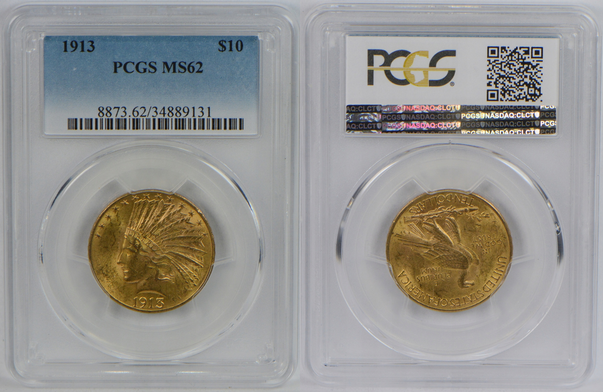 USA 10 DOLARÓW 1913 ZŁOTO PCGS MS62 21.01