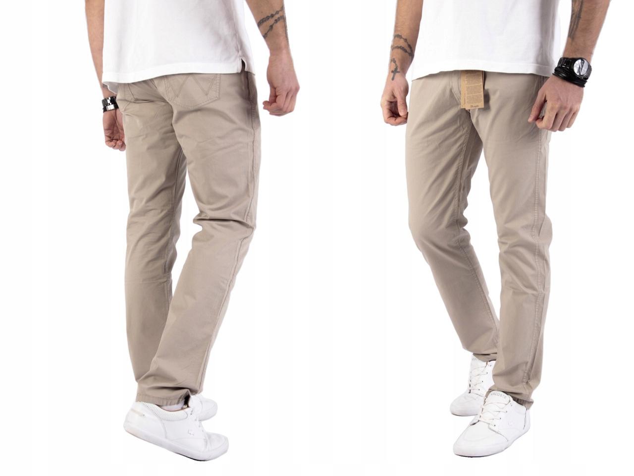 Wrangler Greensboro Camel spodnie W33 L30