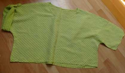 Bluzka pudełkowa len 100% zielona 48 50 XXXL