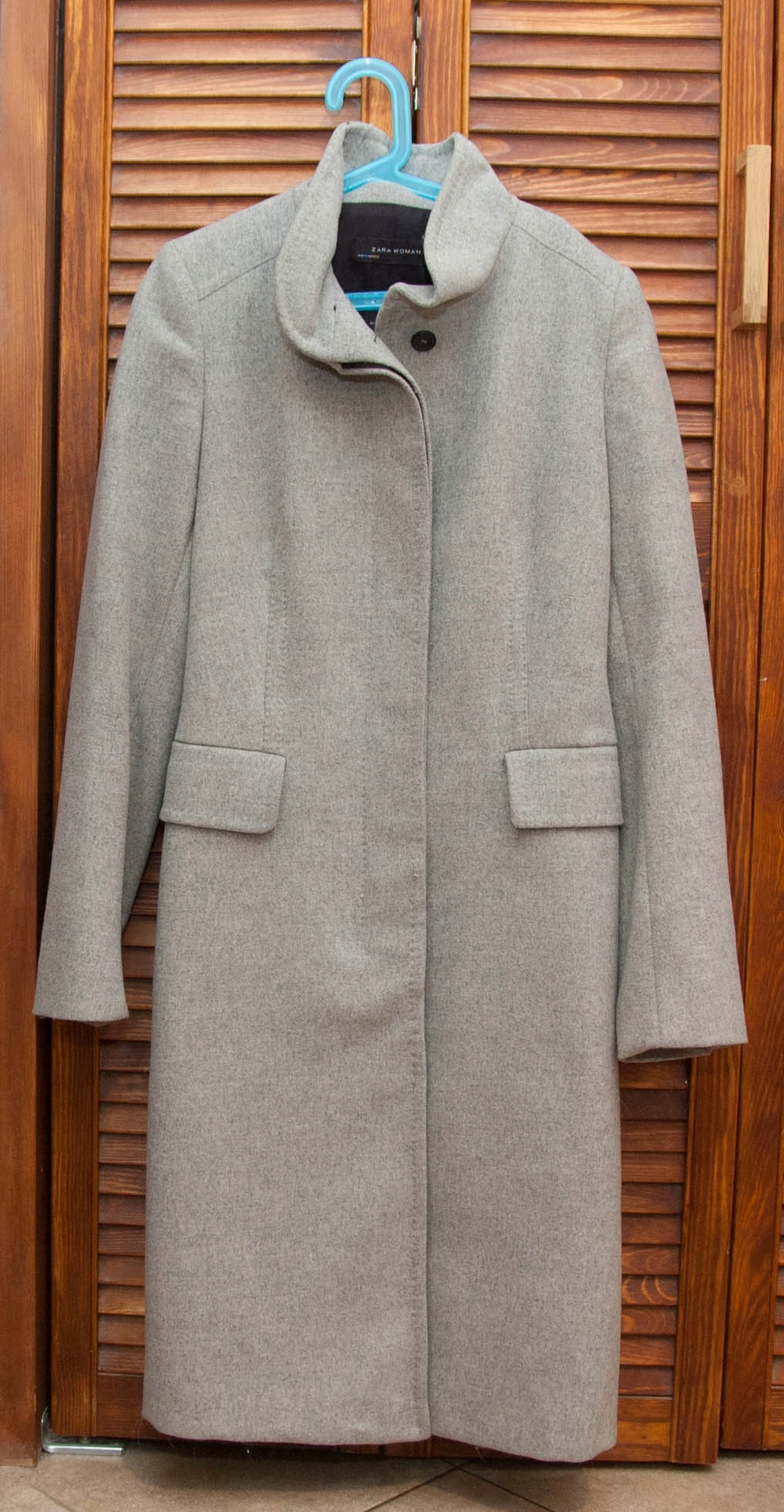 ZARA płaszcz wełna alpaka M szary